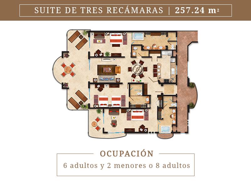Suite De Tres Recamaras