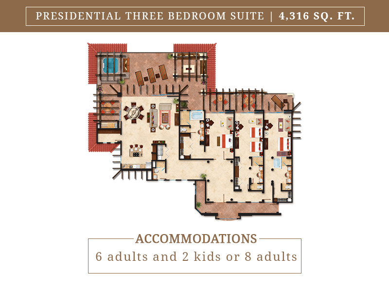 Presidential Three Bedroom Suite