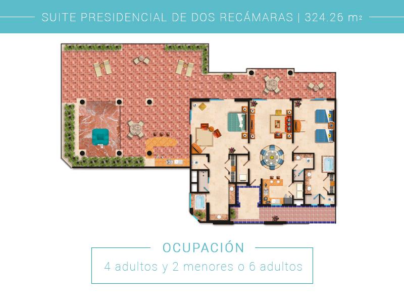 Suite Presidencial De Dos Recamaras