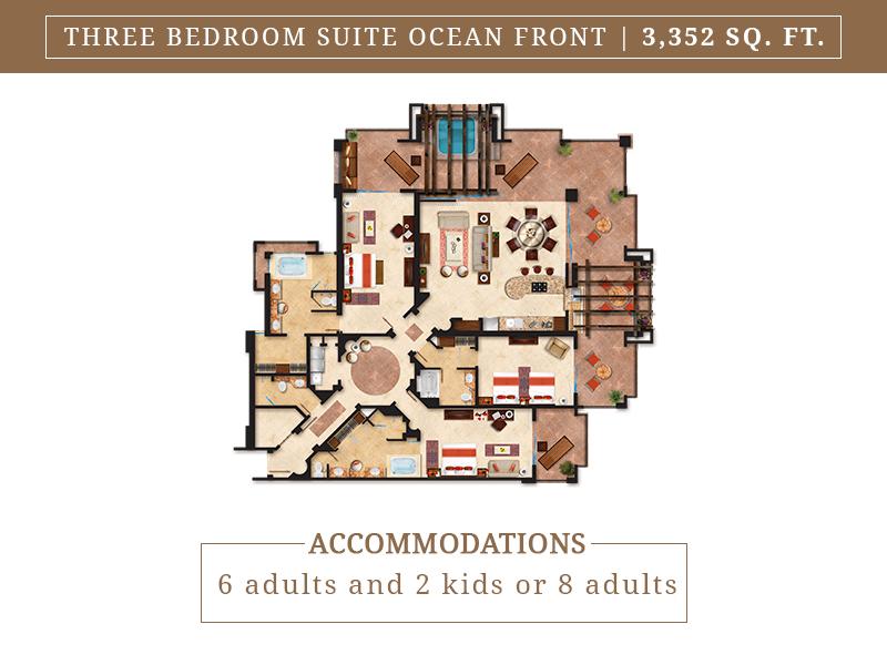 Three Bedroom Suite Ocean Front