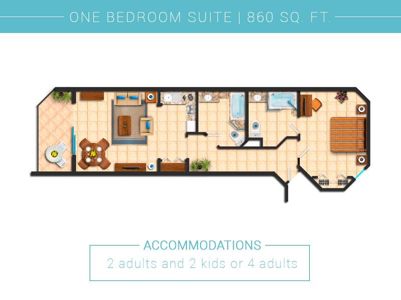 Villa Del Palmar Cabo San Lucas One Bedroom Floor Plan